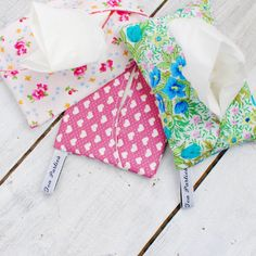 Handmade Pocket Tissue Holder. Perfect travel accessory or handbag accessory. Pop your pocket tissues in something pretty instead of a plastic bag and keep them clean too!