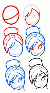 How to Draw Tinkerbell Easy, Step by Step, Disney Characters ...