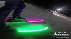 LED Skis Powered by ShowBattery