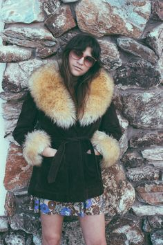 ELECTRIC LOVE COMPANY, Suede + Fur 1970′s Coat available now at...