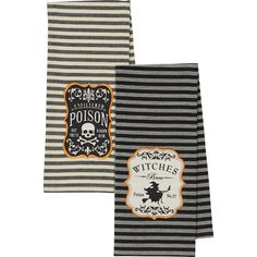 Add festive flair to your pot rack or the front of the oven with these lovely cotton towels, showcasing whimsical label motifs. Produ...