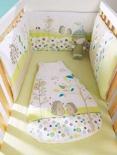 Tour de lit bébé brodé thème Pic-nic VERT - vertbaudet enfant