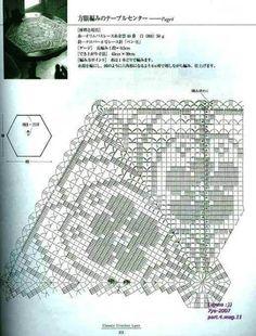 Kira scheme crochet: Scheme crochet no. 1672