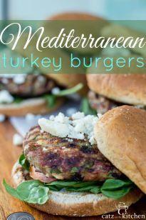 Mediterranean Turkey Burgers - Catz in the Kitchen