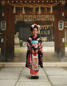 子供 Japanese Clothing, Japanese Outfits, Japanese Things, Rite Of Passage, Traditional Japanese, Yukata, Children, Kids, Harajuku