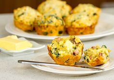 This delicious Corn, Spinach and Bacon Muffin recipe is a tasty savoury breakfast you can easily eat on the run!