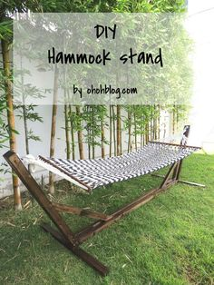 Build Yourself A Hammock Stand