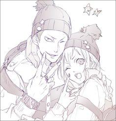 Haikyuu!! - Tanaka and Yachi