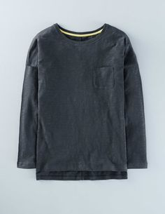 Boden Lightweight Drop Shoulder Charcoal Women Boden, A brand-new shape that you NEED in your T-shirt drawer. Modern details include a dropped shoulder, step back hem and side slits. http://www.MightGet.com/january-2017-13/boden-lightweight-drop-shoulder-charcoal-women-boden-.asp