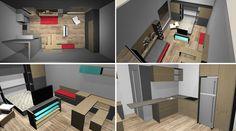"""A Häfele é especialista em ferragens e acessórios para móveis e arquitetura, e projetou um estúdio com 32 m² para expor o conceito internacional """"Mais vida por metro quadrado"""""""
