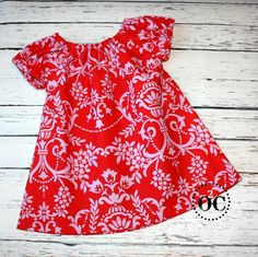 Girls Peasant Dress  Valentine Dress by omasoutbackcreations