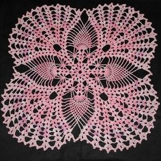 Super Extra large Pink crochet doily