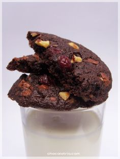 Cookies de Chocolate e Cranberry