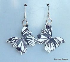 'Butterfly' Leather Earrings - The Supermums Craft Fair