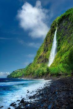 Waipio valley - Kaluahine Falls, Big Island of Hawaii COPYRIGHT:© Copyright Yves Rubin.