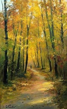 Ideas Painting Nature Landscape Fall For 2019 Watercolor Trees, Watercolor Landscape, Landscape Art, Landscape Paintings, Watercolor Paintings, Oil Paintings, Watercolor Drawing, Watercolor Artists, Indian Paintings
