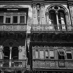 #Valletta #Malta's capital #city in #blackandwhite! - Thanks to @whatisee.photo for the #photo  Tag your #photos with #MaltaPhotography to get a chance to be featured on @maltaphotography - http://ift.tt/1fpoK0v  #balconies #old #vintage #antique #architecture #instagood #instadaily #instacool #photooftheday #picoftheday #instagramhub #travel #destination #island #summer #b&w
