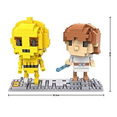 LOZ Star Wars Diamond NanoBlock mini blocks Luke and 3CPO with BOX ** Locate the offer simply by clicking the VISIT button to visit Amazon website
