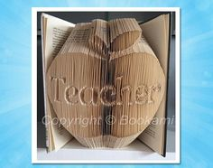 Book Folding Pattern -Bookami® PDF - Apple For The Teacher - 823 Pages/412 Folds - Plus Free Book Folding Tutorial! - Teacher Gifts