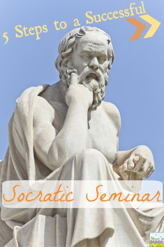 Use these five steps to run a successful Socratic seminar in your classroom! This is a method that requires trial and error, but it's worth the outcome! Social Studies Classroom, Teaching Social Studies, Teaching Tips, Teaching Literature, Writing Strategies, Comprehension Strategies, Writing Resources, Writing Services, Secondary Teacher