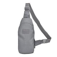 New Grey Men Waterproof Military Cross Body Sling Pack Messenger Shoulder Back Portable Chest Travel Riding Bag
