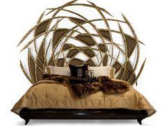 carved wood furniture, bed headboard