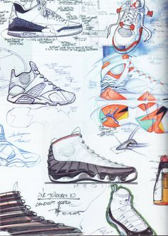 Tinker Hatfield sketches of his infamous Air Jordans. Chris Hager · Boom  Shaka Laka d8b39021b