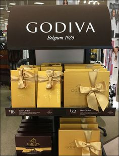 If you are a full-on Department Store, you chocolate offering had better be a cut above, just like your other merchandise. Godiva@ a good choice in this regard, also offering branded, chocolate col… Pop Display, Point Of Purchase, Chocolate Color, Department Store, Pos, Footprint, Retail, Brown, Products