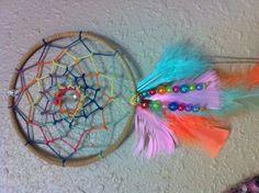 making dreamcatchers with my grandchildren