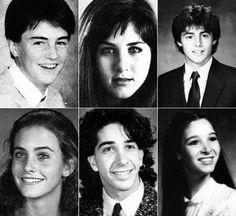 Los protagonistas de Friends: antes