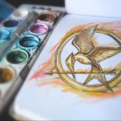 fire The Hunger Games watercolor colour hunger games color fan art Katniss peeta the girl on fire everdeen mellark mokhingjay Hunger Games Pin, Hunger Games Catching Fire, Hunger Games Trilogy, Hunger Games Drawings, Mockingjay Pin, I Volunteer As Tribute, Tribute Von Panem, Mocking Jay, Dont Forget To Smile