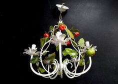 Hey, I found this really awesome Etsy listing at https://www.etsy.com/listing/218858616/vintage-tole-chandelier-so-chic-so