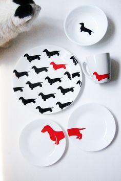 kate spade inspired dachshund plates diy 1