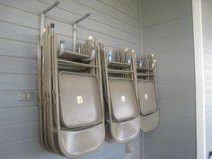 rangement chaises garage