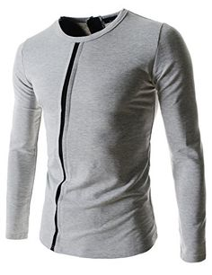 Showblanc (SBDK54) Male Fitted Design Front Cross Line Point Round Neck Tshirts GRAY Medium(Chest 36) Showblanc http://www.amazon.com/dp/B014R6A45I/ref=cm_sw_r_pi_dp_nygmwb1TVHBE8