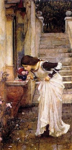 The Shrine -- John William Waterhouse [1849--1917, English]