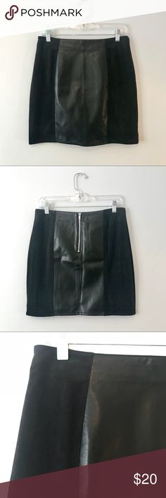 Leather and Suede Mini Skirt Modern mini from H&M.  Never worn, in perfect condition. H&M Skirts Mini