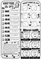 "What´s the time BOARDGAME - You need small pieces of paper and a dice. Groups of two or four students. Throw the dice and say the time according to the clocks in the square. If some students fall in the ""happy clock"", then they have to move their pieces to the following. The winner will be the first who reaches the finish! Enjoy! Thank you. Cha. - ESL worksheets"