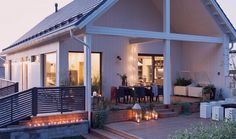 Tervetuloa Lato-rakentajaksi! Modern Barn House, Backyard, Patio, Ideal Home, Decorating Tips, Home Interior Design, My House, Cottage, Exterior