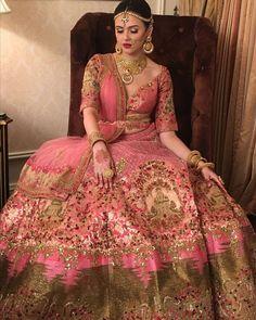 Light Pink Color Satin Silk Designer Plus Size Lehenga Choli Indian Bridal Outfits, Indian Bridal Lehenga, Indian Bridal Fashion, Indian Bridal Wear, Indian Dresses, Pakistani Bridal, Colored Wedding Dresses, Bridal Dresses, Designer Bridal Lehenga