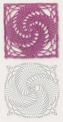 Square Crochet Motifs- 380 Photos Click On Photo For Pattern Graph. From…