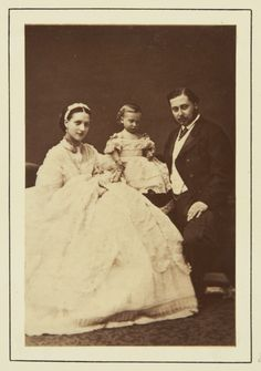 The Prince and Princess of Wales with their Children, Prince Albert Victor and Prince George, 1865 [in Portraits of Royal Children Queen Victoria Children, Queen Victoria Family, Princess Victoria, Prince And Princess, Princess Of Wales, Victoria's Children, Alexandra Of Denmark, Royal Collection Trust, Photos Of Prince
