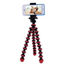 EVERMARKET Octopus Style Portable and Adjustable Tripod Stand Holder for iPhone Samsung Glaxy SeriesCell phoneCamera with Universal Clip 1 Pack ** Visit the image link more details. Note: It's an affiliate link to Amazon