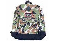 Details: http://bmxunion.com/daily/product-deco-bmx-camo-retro-style-backpack/  #BMX #Fashion #Camo #backpack