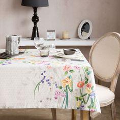 Mantel y Servilleta Estampado Floral