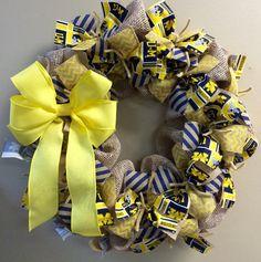University of Michigan Wolverine Wreath