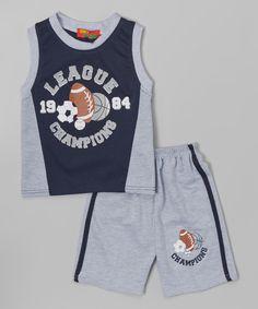 Navy 'League Champions' Tank & Shorts - Toddler by Coney Island Kids #zulily #zulilyfinds