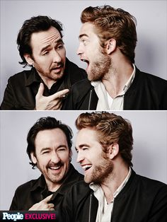 Photo Booth Fun at the Toronto International Film Festival   ROBERT PATTINSON & JOHN CUSAK   Nice hair, guys! The actors, who share the screen in this year's drama Map to the Stars, reunite happily in Toronto, where they shot their film.