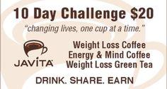 Are You ready for a Challenge? Start losing inches with Javita Coffee Burn + Control and/or Javita Tea Lean + Green      Email - maria.nunaray45@gmail.com     www.myjavita.com/mnungaray