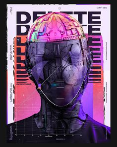 _Almost one year after our first, here is the second collab with the mate Very happy with the final result, this is juicy a f. Graphic Design Posters, Graphic Design Inspiration, Typography Design, Crea Design, Design Art, Cyberpunk Art, Art Graphique, Retro Futurism, Grafik Design